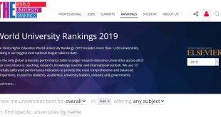 رتبه بندی دانشگاه های ایران و جهان در سال 2019